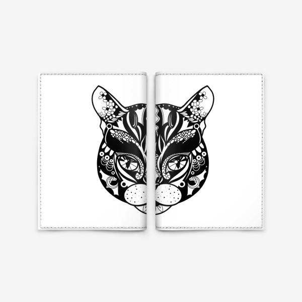 Обложка для паспорта «Морда кота. Кот. Люблю котов»
