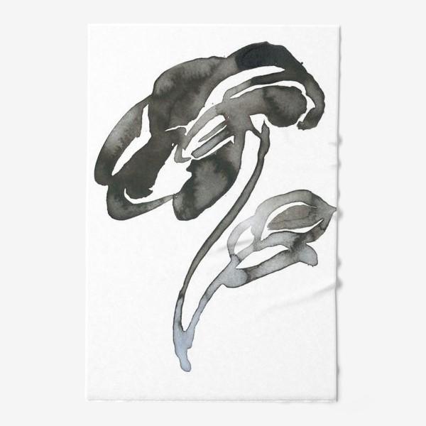 Полотенце «Цветок, графика, чернила»
