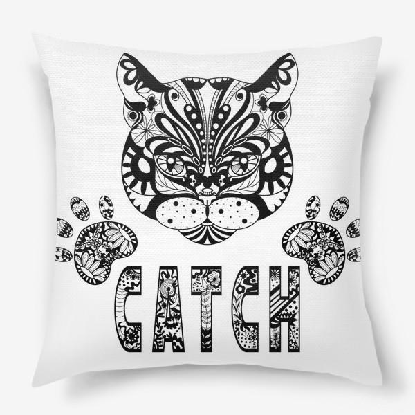 Подушка «Кот. Люблю кошек. Коты. Морда кота»