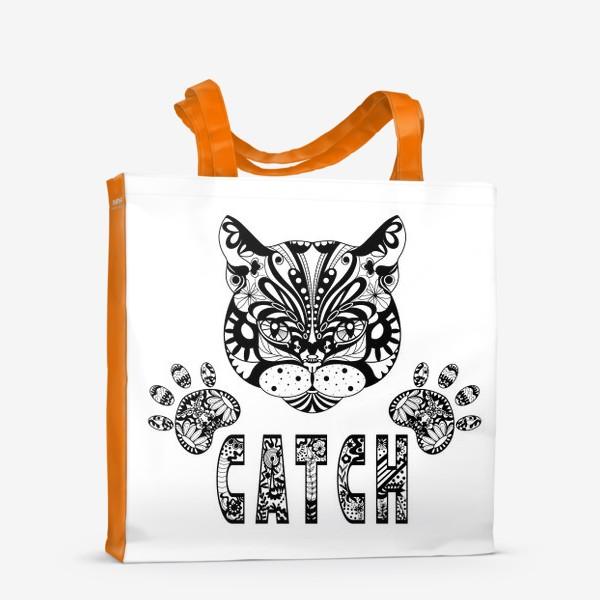 Сумка-шоппер «Кот. Люблю кошек. Коты. Морда кота»