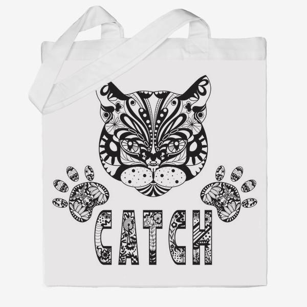 Сумка хб «Кот. Люблю кошек. Коты. Морда кота»