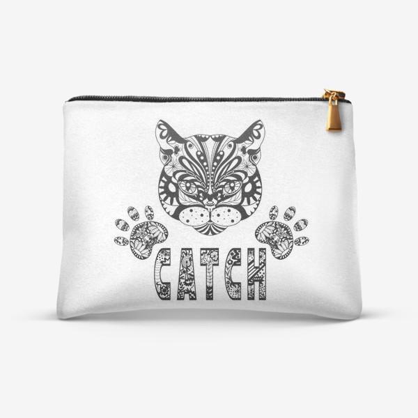 Косметичка «Кот. Люблю кошек. Коты. Морда кота»