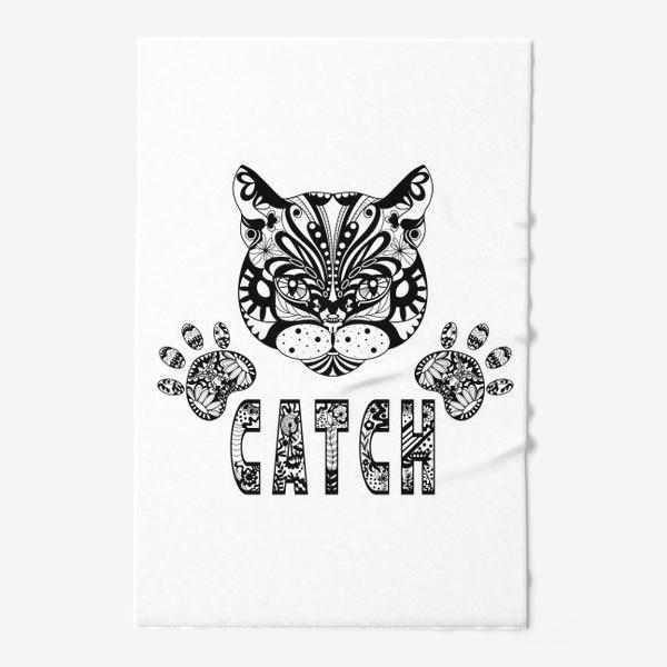 Полотенце «Кот. Люблю кошек. Коты. Морда кота»