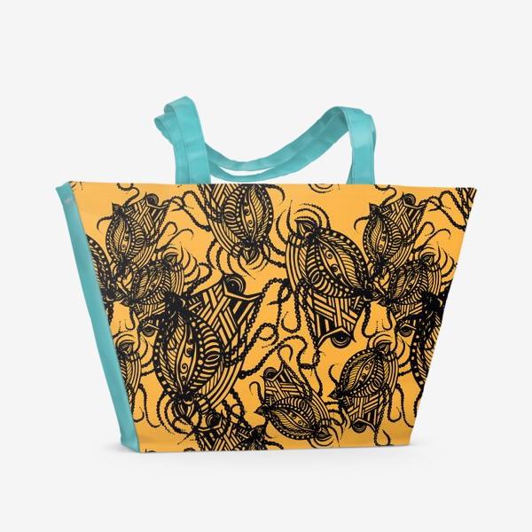 Пляжная сумка «Зентагл абстракция»