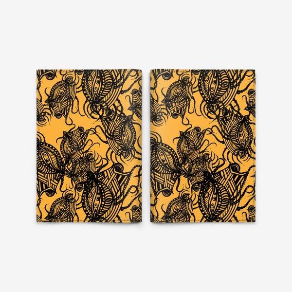 Обложка для паспорта «Зентагл абстракция»
