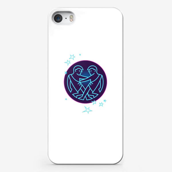Чехол iPhone «Близнецы Знак Зодиака. Символ и яркий орнамент»