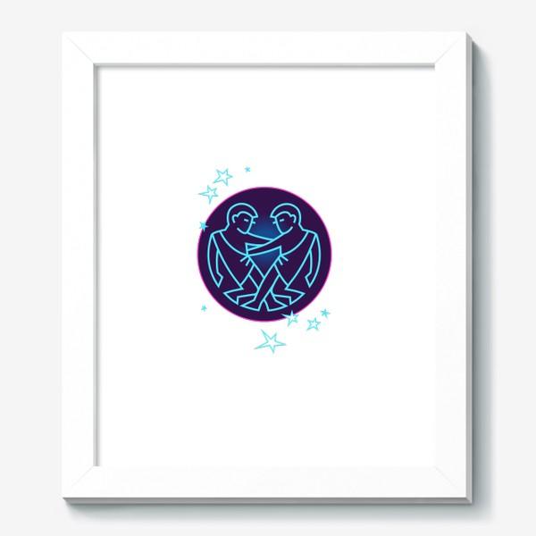 Картина «Близнецы Знак Зодиака. Символ и яркий орнамент»