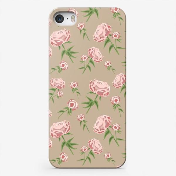 Чехол iPhone «Нежные пионы»