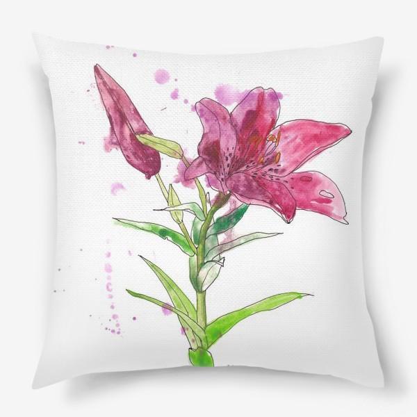 Подушка «Розовая лилия»