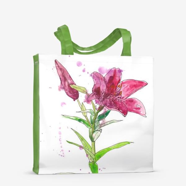 Сумка-шоппер «Розовая лилия»