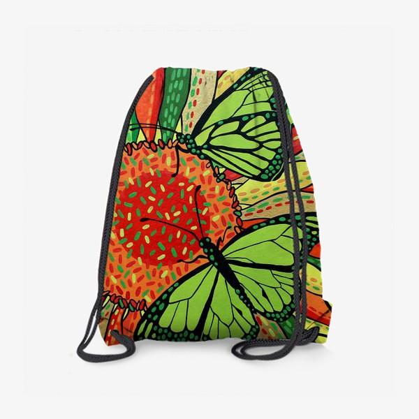 Рюкзак «Лето. Бабочки на цветке»
