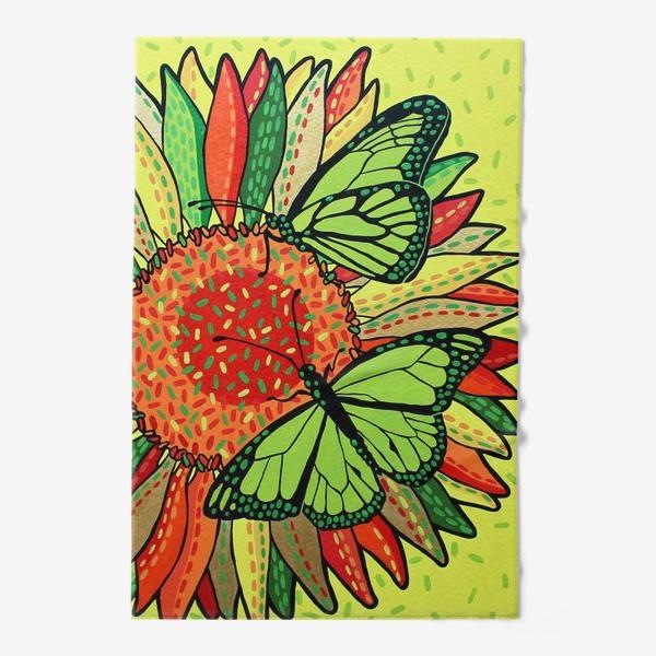 Полотенце «Лето. Бабочки на цветке»
