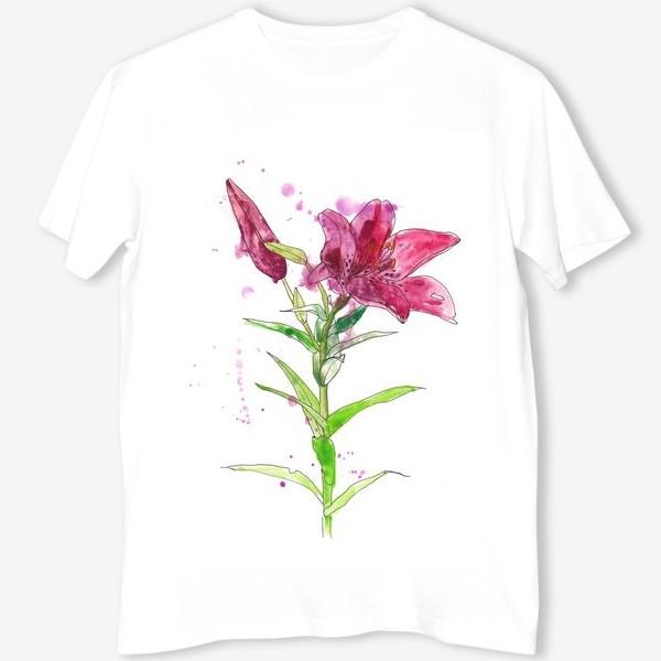 Футболка «Розовая лилия»