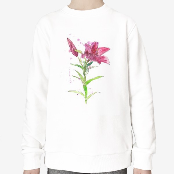 Свитшот «Розовая лилия»