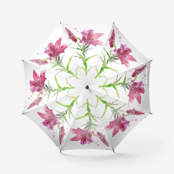 Зонт «Розовая лилия»