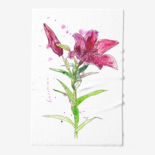 Полотенце «Розовая лилия»