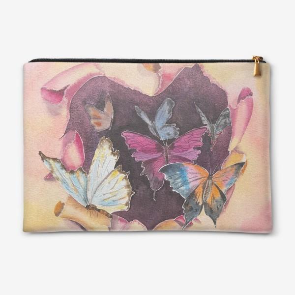 Косметичка «Бабочки в сердце»