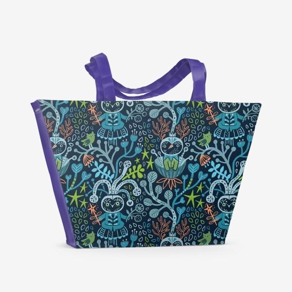 Пляжная сумка «Лесные чудики»