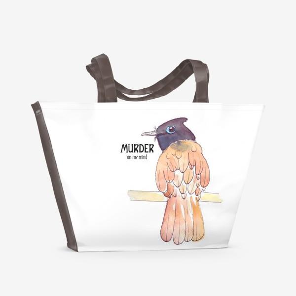Пляжная сумка «Murder on my mind»