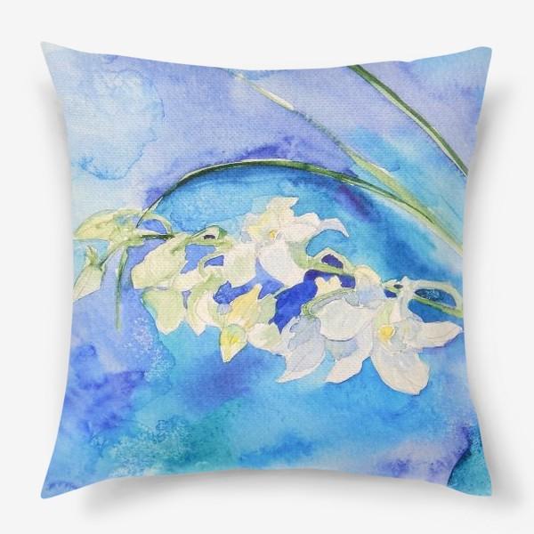 Подушка «Белая орхидея»