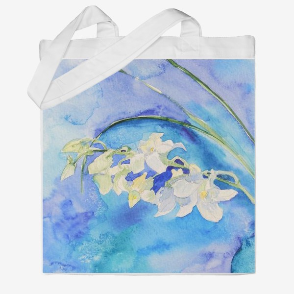 Сумка хб «Белая орхидея»