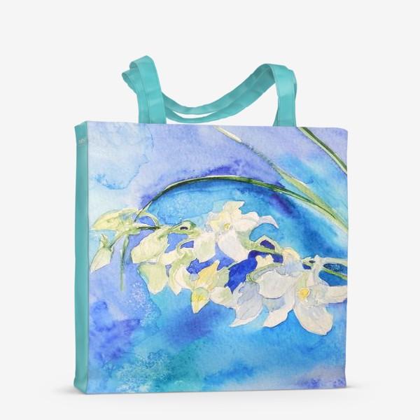 Сумка-шоппер «Белая орхидея»