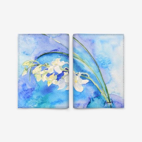 Обложка для паспорта «Белая орхидея»
