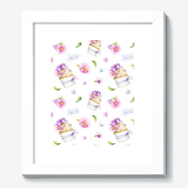 Картина «капкейк с цветами»