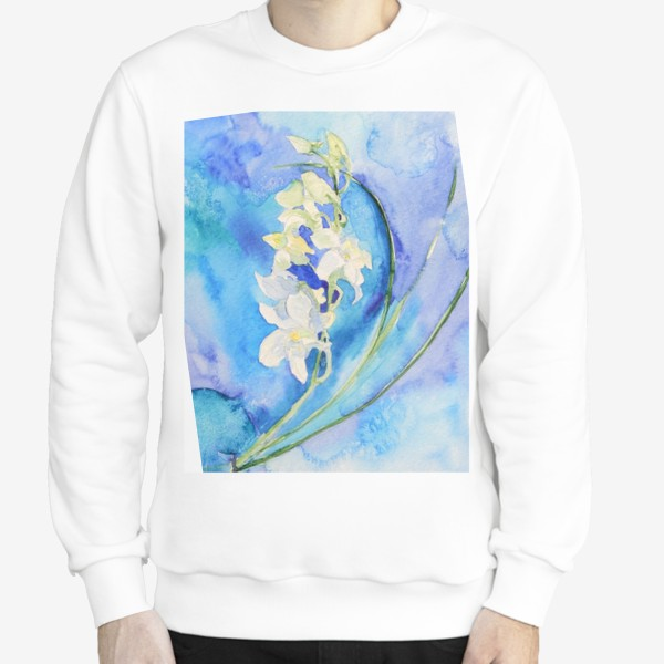 Свитшот «Белая орхидея»