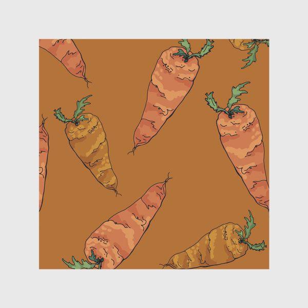 Скатерть «Морковный паттерн на терракотовом »