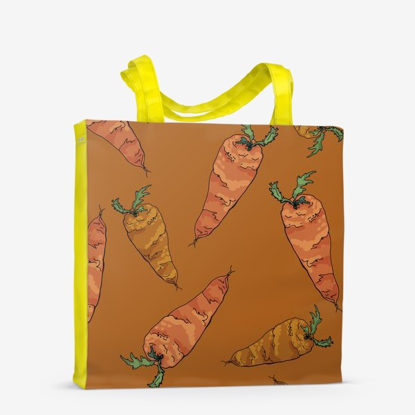 Сумка-шоппер «Морковный паттерн на терракотовом »