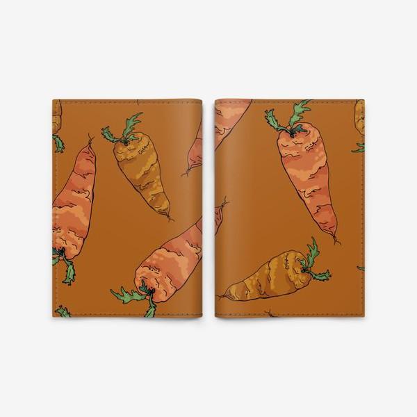 Обложка для паспорта «Морковный паттерн на терракотовом »