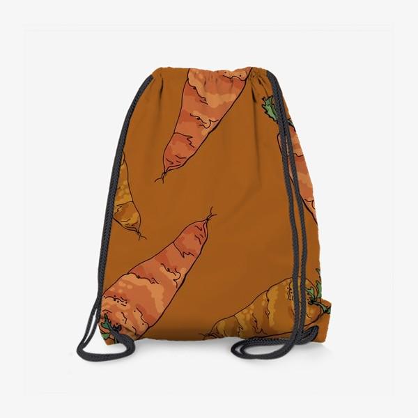 Рюкзак «Морковный паттерн на терракотовом »