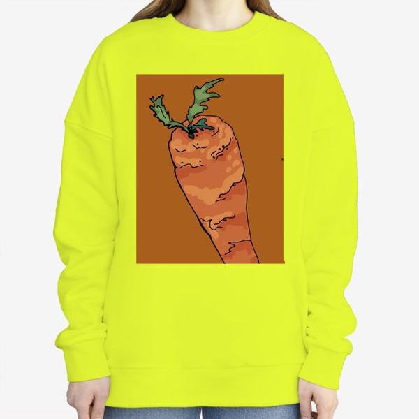 Свитшот «Морковный паттерн на терракотовом »