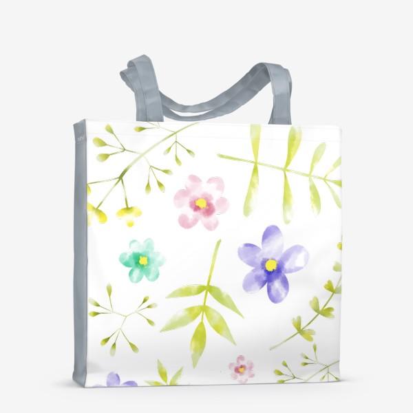 Сумка-шоппер «Нежный акварельные цветочки »