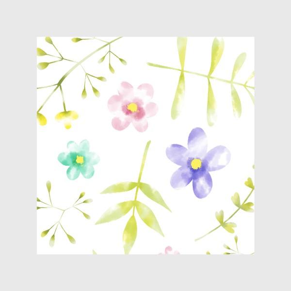 Скатерть «Нежный акварельные цветочки »
