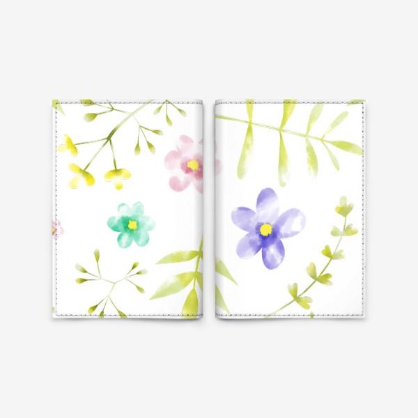 Обложка для паспорта «Нежный акварельные цветочки »