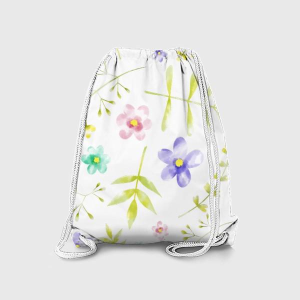 Рюкзак «Нежный акварельные цветочки »