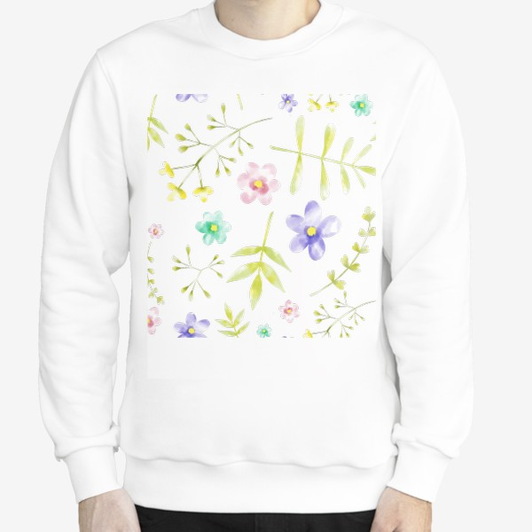Свитшот «Нежный акварельные цветочки »