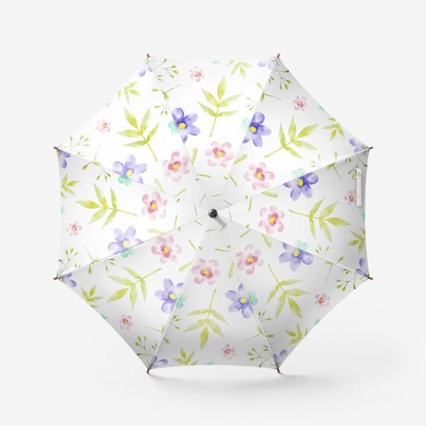 Зонт «Нежный акварельные цветочки »