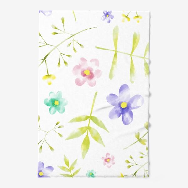Полотенце «Нежный акварельные цветочки »