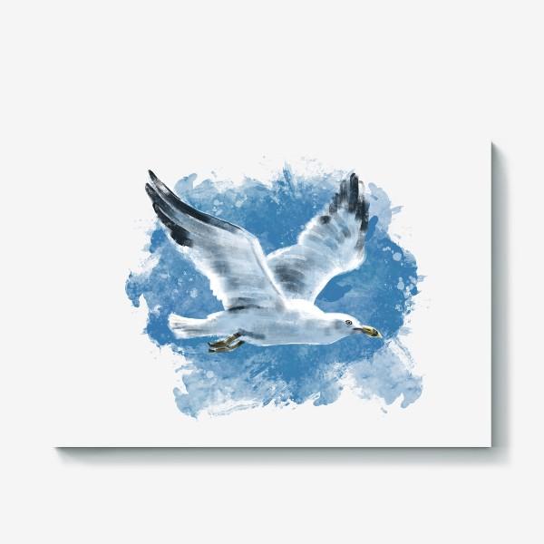 Холст «Чайка в полете»