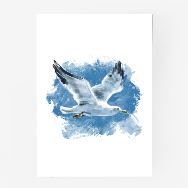 Постер «Чайка в полете»