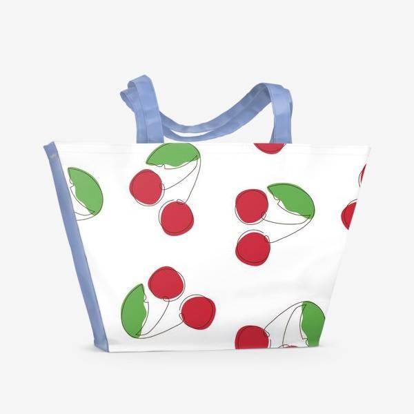 Пляжная сумка «Вишня/черешня»