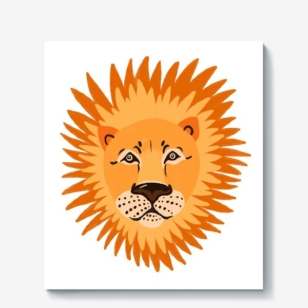 Холст «лев»