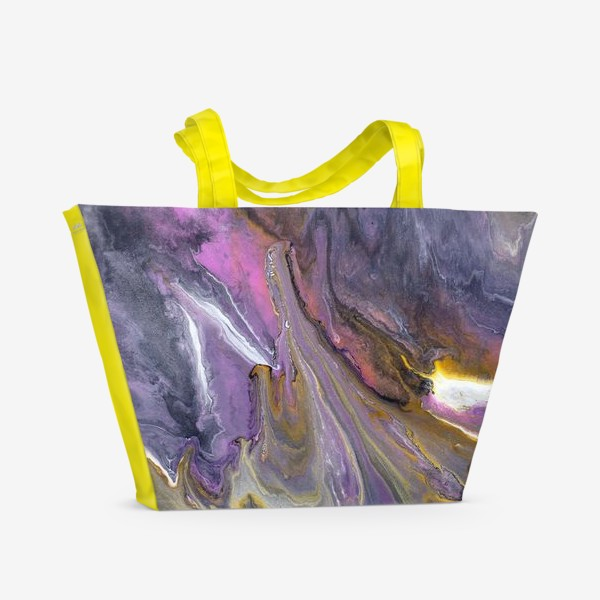 Пляжная сумка « розовый камень»