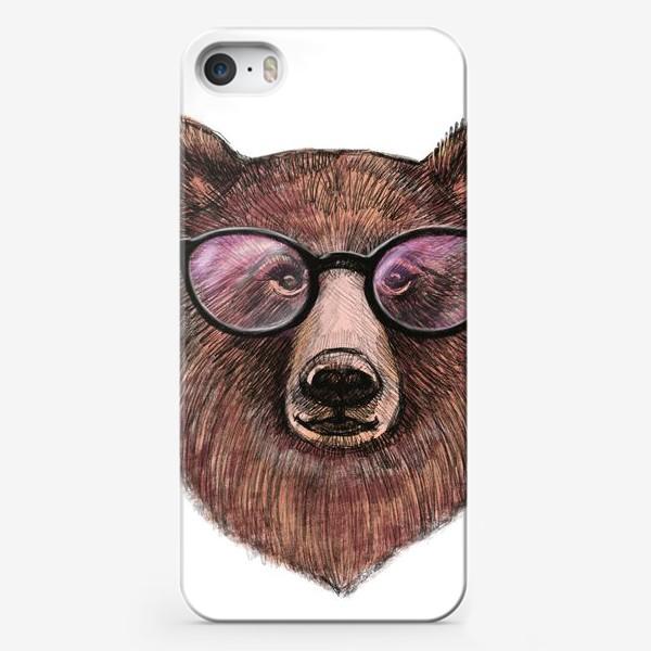 Чехол iPhone «медведь в очках»