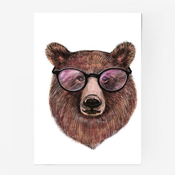 Постер «медведь в очках»