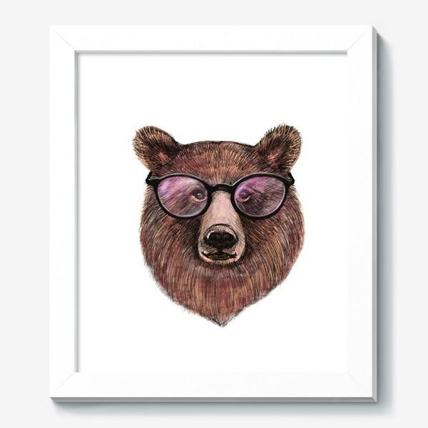 Картина «медведь в очках»