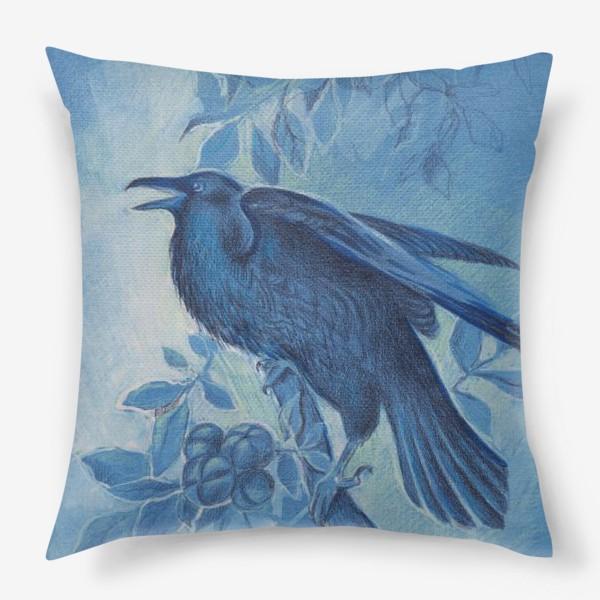 Подушка «Ворон»